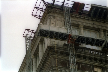 Recovery of terra cotta balustrading from the 2-story ballroom level on 2 elevations.