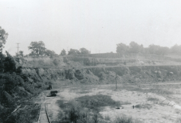 Open pit shale mine, Alton Brick Co., Maryland Heights, Missouri.
