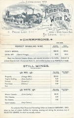 American Wine list