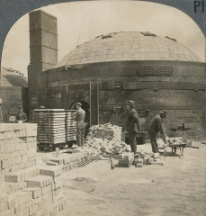Brick Making, Placing Green Bricks in Kiln After Coming from Dryer