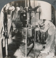 Machine for Moulding the Tile; Clay is Fed from the Trough, Laclede-Christy, St. Louis, Missouri