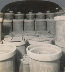Interior of Kiln ready for Firing, Tile Unburned, Laclede-Christy, St. Louis, Missouri