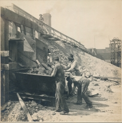 Hand Cars Receiving the Clay Dumped from Train, Laclede-Christy, St. Louis, Missouri