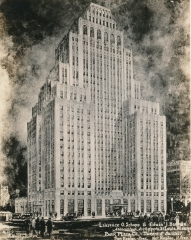 Architect's Rendering of Park Plaza Hotel