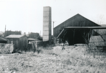 Clay storage shed, Kloess Brick Co., Belleville, Illinois.