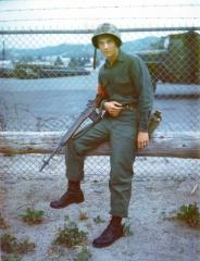 Larry Giles at Camp Pendleton for Infantry Training Regiment Staging