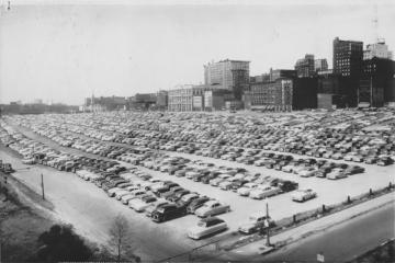 St. Louis riverfront parking lot