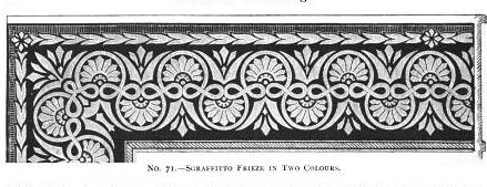 No. 70. - Sgraffitto Frieze In Two Colours.