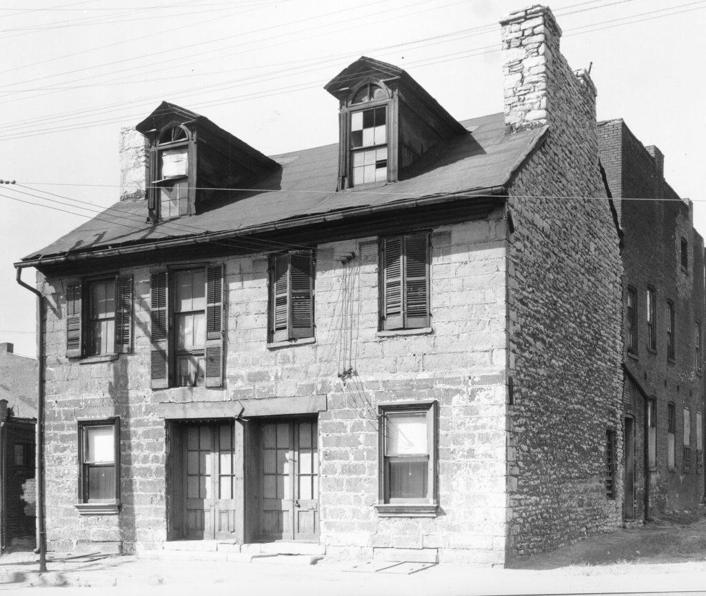 V106-001989 Roy House mid-block Second Street btwn Plum and Poplar looking west B53